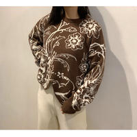 WHOO-AA・Flower Jacquard Pullover(W0W2023)