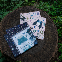 handkerchief「tea time」「sewing time」(fouatons)