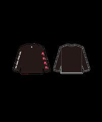 ロングTシャツA : BLACK (バケツロゴ)