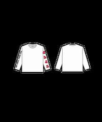 ロングTシャツA : WHITE (バケツロゴ)