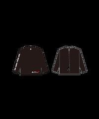 ロングTシャツB : BLACK (WITH ALSロゴ)