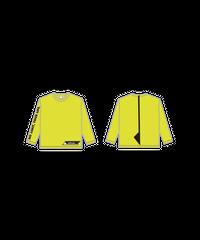 ロングTシャツB : NEON YELLOW (WITH ALSロゴ)