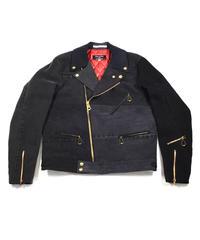 105XX RIDERS JACKET BLACK Size LARGE #001