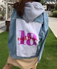 eighteen denim hoodie