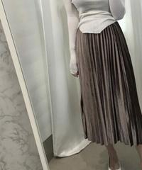 【即納】ベロアプリーツロングスカート