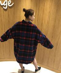 【即納】オーバーサイズチェックシャツ