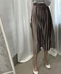 ベロアプリーツロングスカート