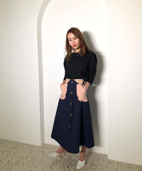 【即納】ウエストマークデザインスカート