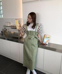 【即納】リボンジャンパースカート