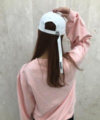 【即納】white long strap cap