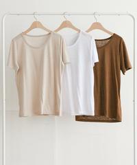 【即納】UネックTシャツ