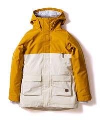Bicolor Jacket - Mustard/White