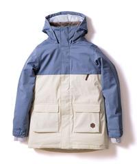 Bicolor Jacket - Gray/White