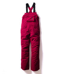 Stretch Bib Pants - Burgundy