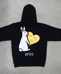 【GLR237】 HEART RABBIT HOODIE【YELLOW】