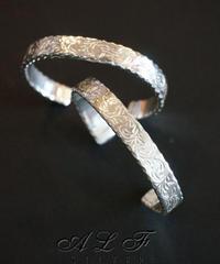 A,L,F silver 唐草バングル