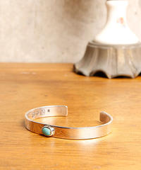 NORTH WORKS ノースワークス / Narrow Circle turquoise bangle バングル / W-018