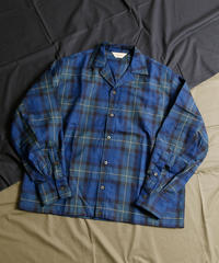 【全1色】JieDa ジエダ /  TARTAN CHECK OPEN COLLAR SHIRT タータンチェックオープンカラーシャツ / Jie-20W-SH01-B