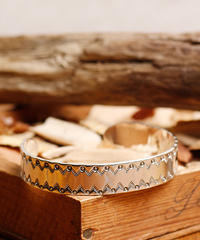 NORTH WORKS ノースワークス / 900silver Stamp bangle M / W-211