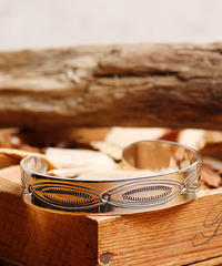 NORTH WORKS ノースワークス / 900silver Stamp bangle M / W-209