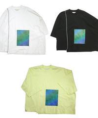 【全3色】JieDa ジエダ / PRINTED ASYMMETRY T-SHIRT アシンメトリープリントTシャツ / Jie-20S-CT04