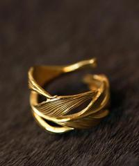 HARIM ハリム / Owl Feather ring K18coating リング / HRR015 G