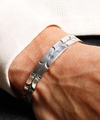 【刻印可能商品】NORTH WORKS ノースワークス / Stamped 900Silver Cuff Bracelet S2 / W-008