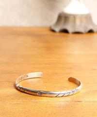 NORTH WORKS ノースワークス / Stamped 900Silver super narrow 2 Cuff Bracelet 2 バングル / W-015