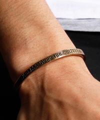 HARIM ハリム / concept bangle BRASS (FRONT STAMPS) / HRA022BR
