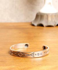 【刻印可能商品】NORTH WORKS ノースワークス / Stamped 900Silver Cuff Bracelet S3 バングル / W-009