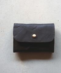 agarito|牛革|植物タンニン|ミニ財布|ギボシ|BLACK