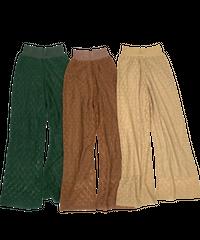 Pattern  Knit   Pants〈21-220139〉