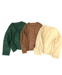 Pattern  Knit  Tops〈21-550088〉