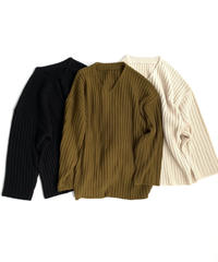 Vneck Lib knit〈20-550233〉