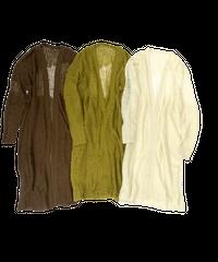 Sheer Knit  Long  Cardigan〈21-550076〉