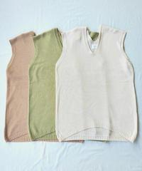 Long Knit Vest〈20-550030〉