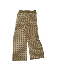 Jacquard knit pants〈20-220234〉