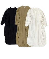 Puff sleeve Shirt One-piece〈21-440106〉