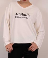 62411032 _ VネックロゴロングTシャツ
