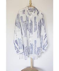 カディKOHANプリントシャツ  白
