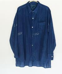 カディKOHANプリントシャツ 藍