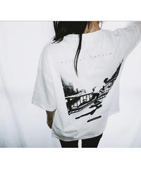 Unisex Back Print Big Silhouette Tee ( White )