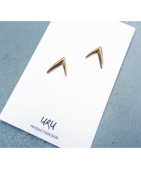 Gold V Shape Earrings