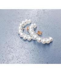 Pearl Line Earrings