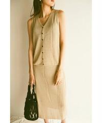 See through knit skirt
