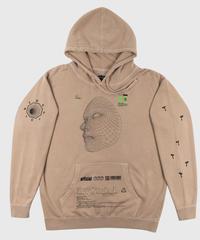 Facial Recognition Hooded Sweatshirt (Sandstone)