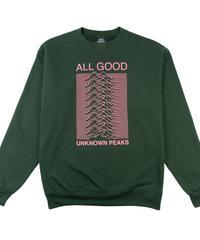 ALL GOOD Unknown Peaks Crewnecks Dark Green