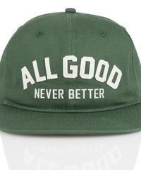 ALL GOOD AGNB SNAPBACK - GREEN