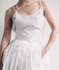 "apron dress ""JEANDREE"" /White"