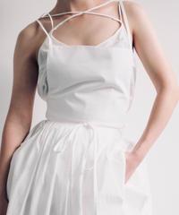 """apron dress """"JEANDREE"""" /White"""